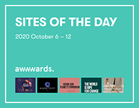 Site of the Day AWWWARDS 2020 October 6 – 12