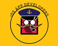 App Developer Logo with Captain Theme