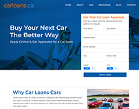 CarLoans - Landing for attracting car loans applicants