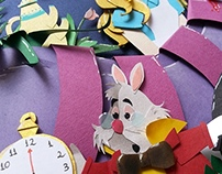 Alice in Wonderland in cut paper