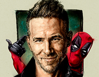 Ryan Reynolds and Deadpool, Movie / Film poster.