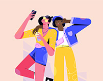 Friends selfie