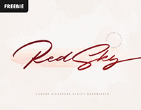Free Download: RedSky Signature Font