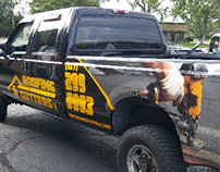Roofing and Gutters Truck Wrap