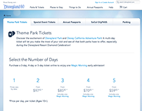 Disney Parks Tickets Page