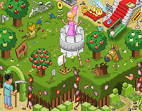 Rescue the Princess! - isometric fairy tale