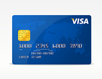 Freebie - Vector Visa Credit Card