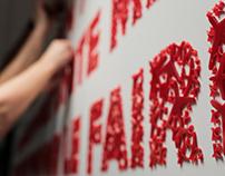 Richard Branson boardroom wall installation