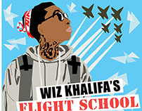 Wiz Khalifa's Flight School Mixtape Illustration
