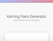 Kerning Pairs Generator - Free tool for font designers