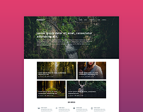 FOREST - FREE PSD TEMPLATE