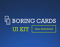Boring cards UI kit - Free Download