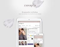 Emporium webshop UI design