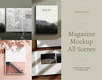 Magazine Mockup All Scenes