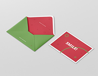 Greeting Card Mockup with Envelope