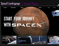 SpaceX Landingpage design