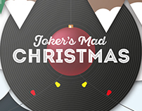Illustrated Christmas Poster // Joker 2.0 - Lounge bar
