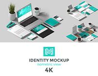 Identity Mockup Isometric view 4K set