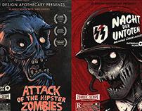 Vintage Parody Zombie Film Posters