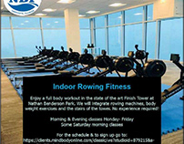 Indoor rowing fitness at Nathan Benderson Park's Finish