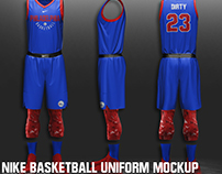 FREE NIKE NBA BASKETBALL UNIFORM MOCKUP
