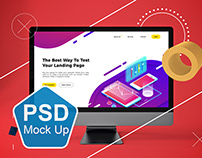 Abstract iMac Pro MockUp