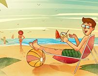 Ilustración Vista al Mar - Barú