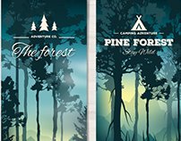 Forest Landscape Banners - Vector Free for Freepik