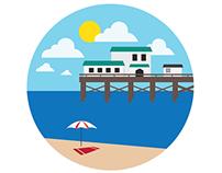 Santa Barbara - Flat Icons