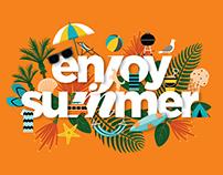 'Enjoy Summer' Billboard for LeasePlan New Zealand