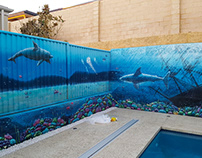 Backyard Underwater Mural