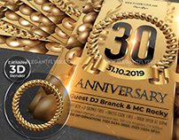 30 Anniversary – Free Flyer PSD Template