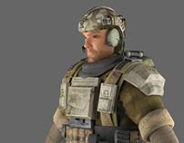 3D US Soldier Modelsheet