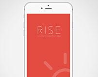 Rise: Weather App Concept