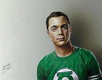 Drawing Jim Parsons as Sheldon Cooper