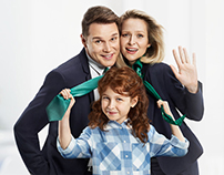 "TV series: ""Dwoje we troje"""
