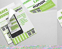 Brochure to promote Munch mobile app