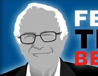 """Bernie Sander's """"Feel the Bern"""" Illustration"""