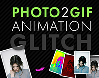 Photo to Gif Animation: Glitch