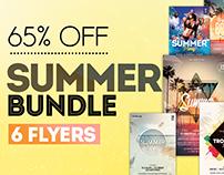 6 Summer PSD Flyer Templates