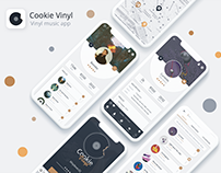 CookieVinyl | Music Vinyl App - UX/UI Design