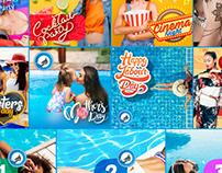 Aqua Social Media Designs