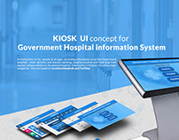 KIOSK UI for Indian Government Hospital