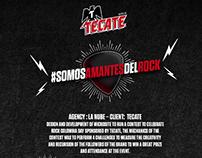 MICROSITE SOMOS AMANTES DEL ROCK - TECATE