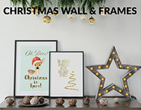 Christmas Frames & Wall Set