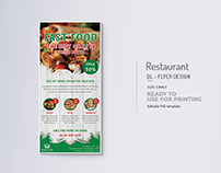 Restaurant Rack Card Title Design