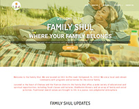 Family shul website design