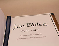 Joe Biden DNC address Caslon Specimen Book