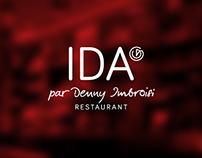 RESTAURANT IDA, logo and branding