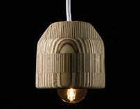 Plywood & Cork Pendant Light